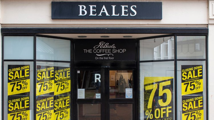 DLA Piper advising as UK department store Beales collapses