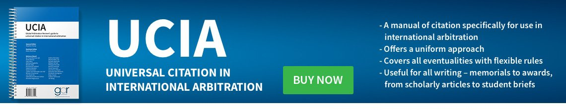 GAR UCIA: Universal Citation In International Arbitration: Buy Now