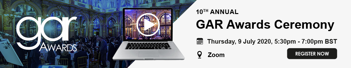 10th annual GAR Awards Ceremony, 9 July 2020, online on Zoom, Register now